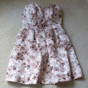 Lauren Conrad Pink Floral Dress